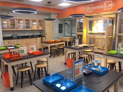 New science lab at The Magic House, St. Louis Children's Museum