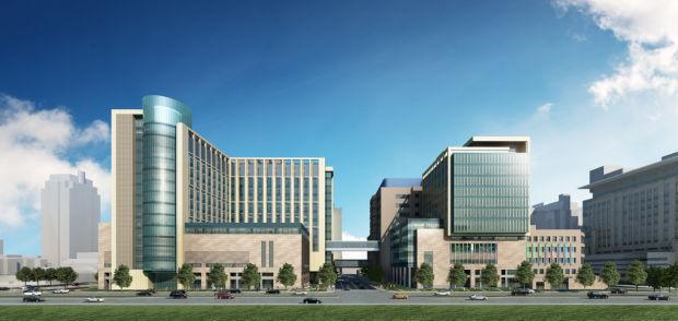 Rendering of new BJC buildings