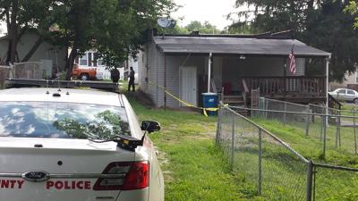 Rear of Lemay home where two people found dead