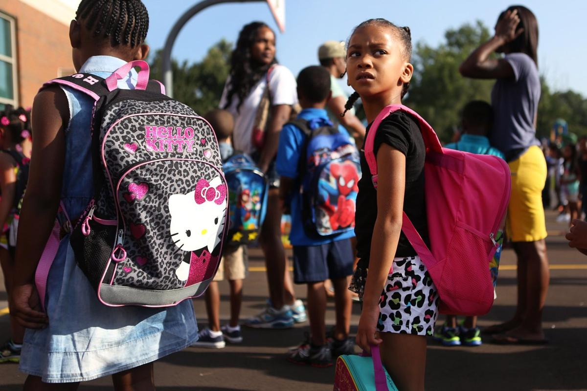 First day of school in Ferguson