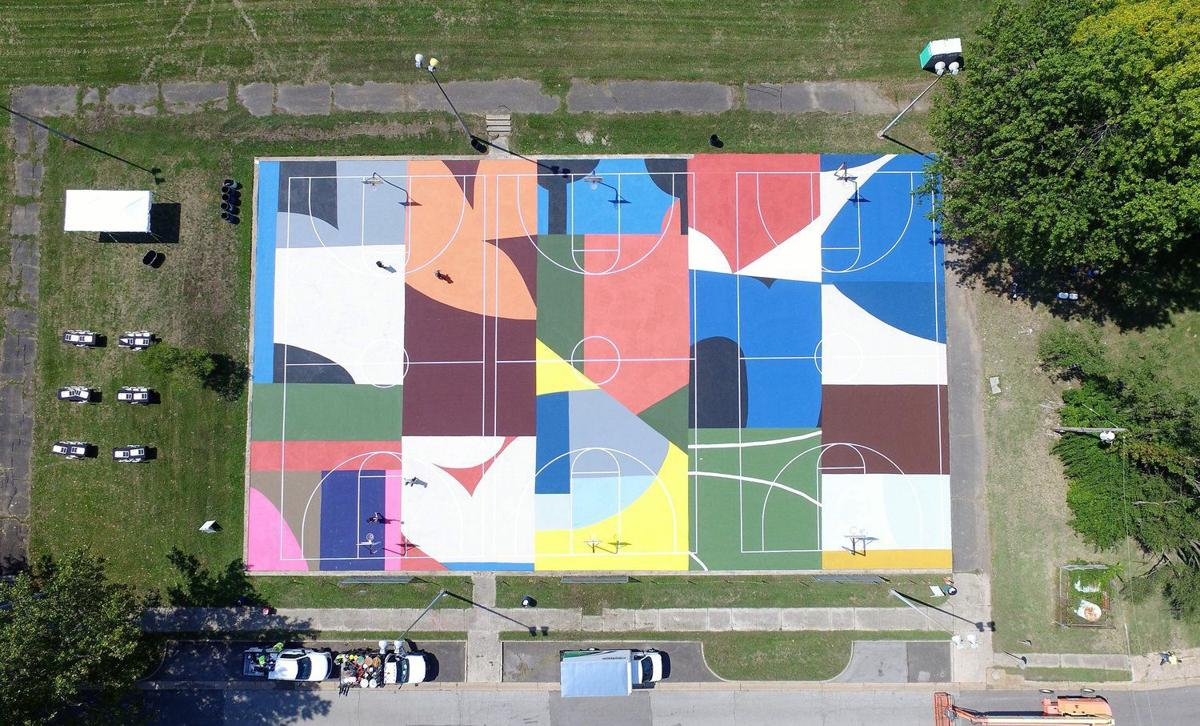 Kinloch courts aerial shot