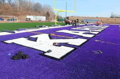 Collinsville, and its new turf field, site of Nike commercial shoot