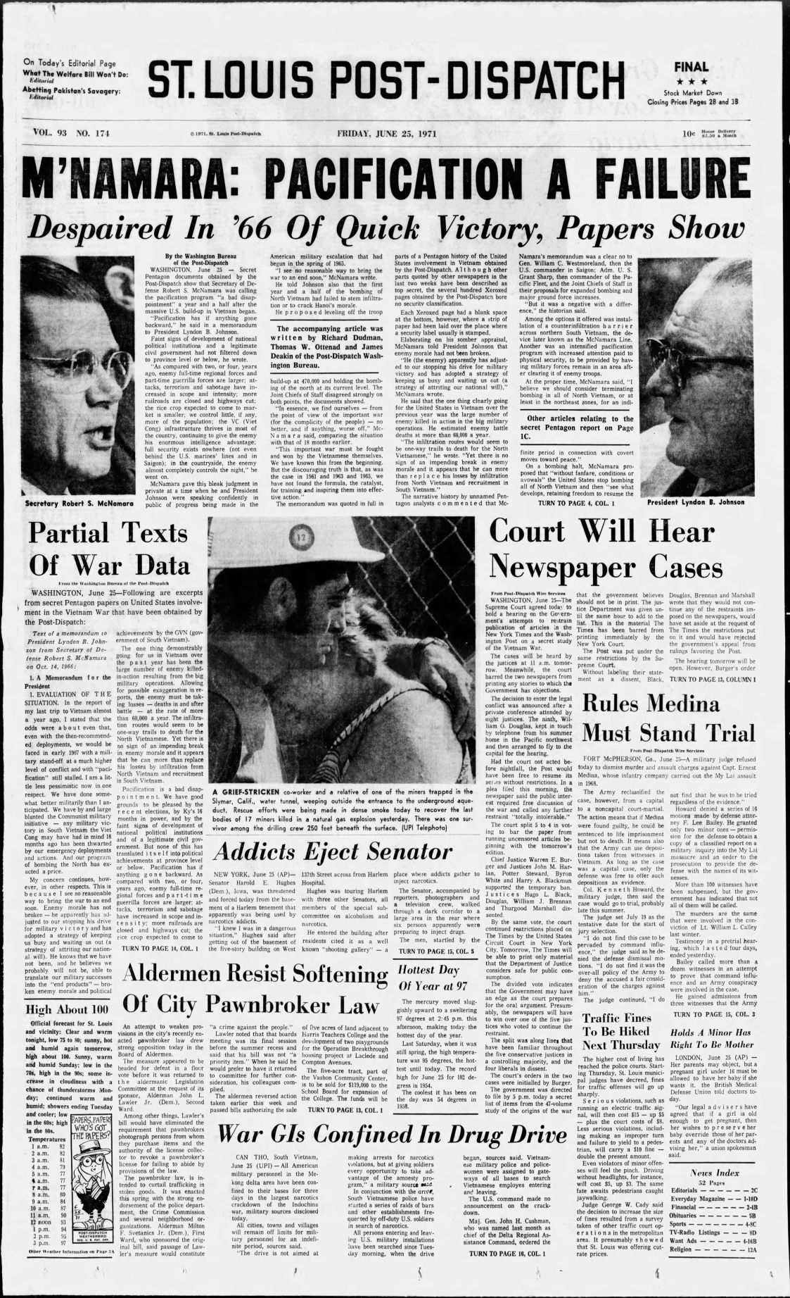 Post dispatch was among first newspapers to publish excerpts of june 25 1971 publicscrutiny Choice Image
