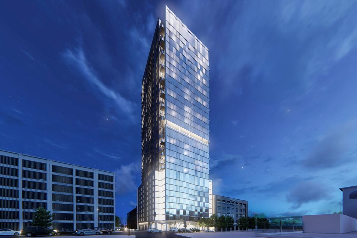 Rendering of the proposed 300 South Broadway apartments
