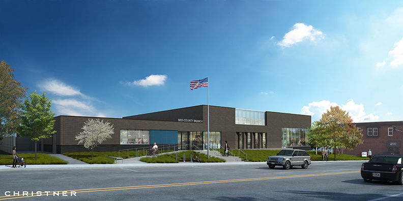 Mid-County library rendering