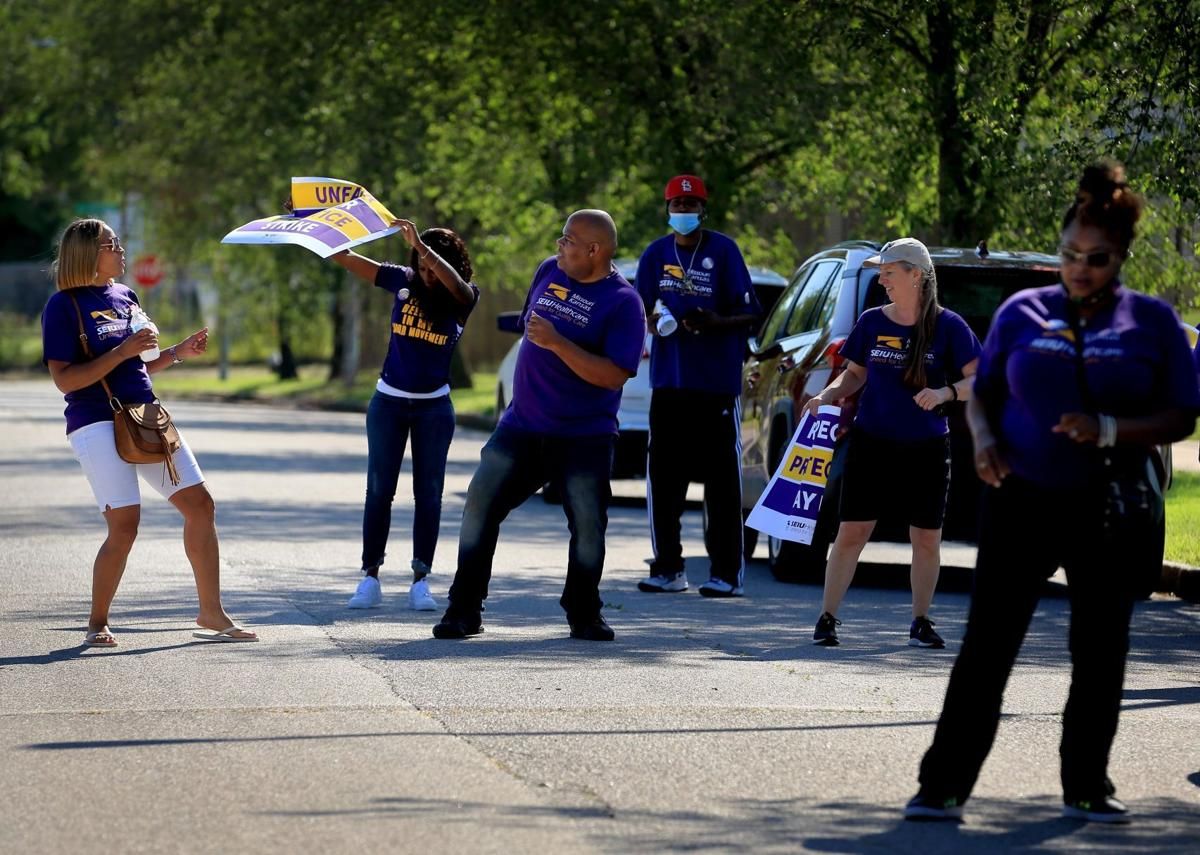 SEIU holds one day strike at Blue Circle Rehab and Nursing in St. Louis