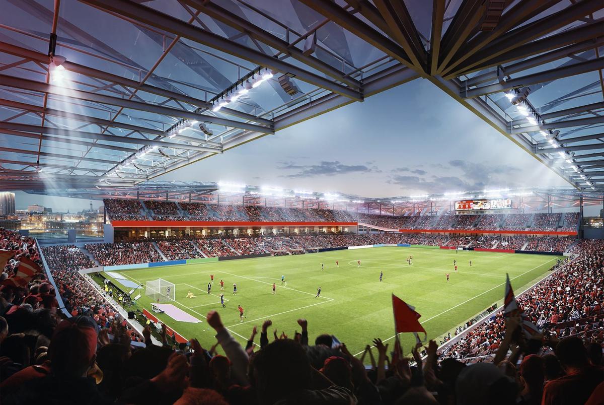 MLS St. Louis stadium rendering