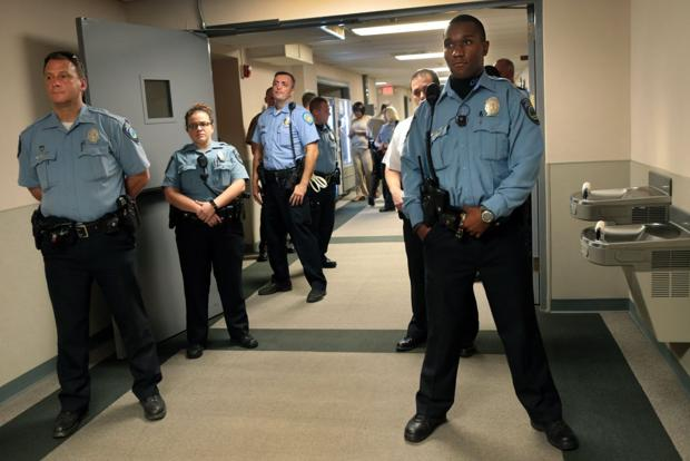 Activists Confront Officers Inside St Louis County Police