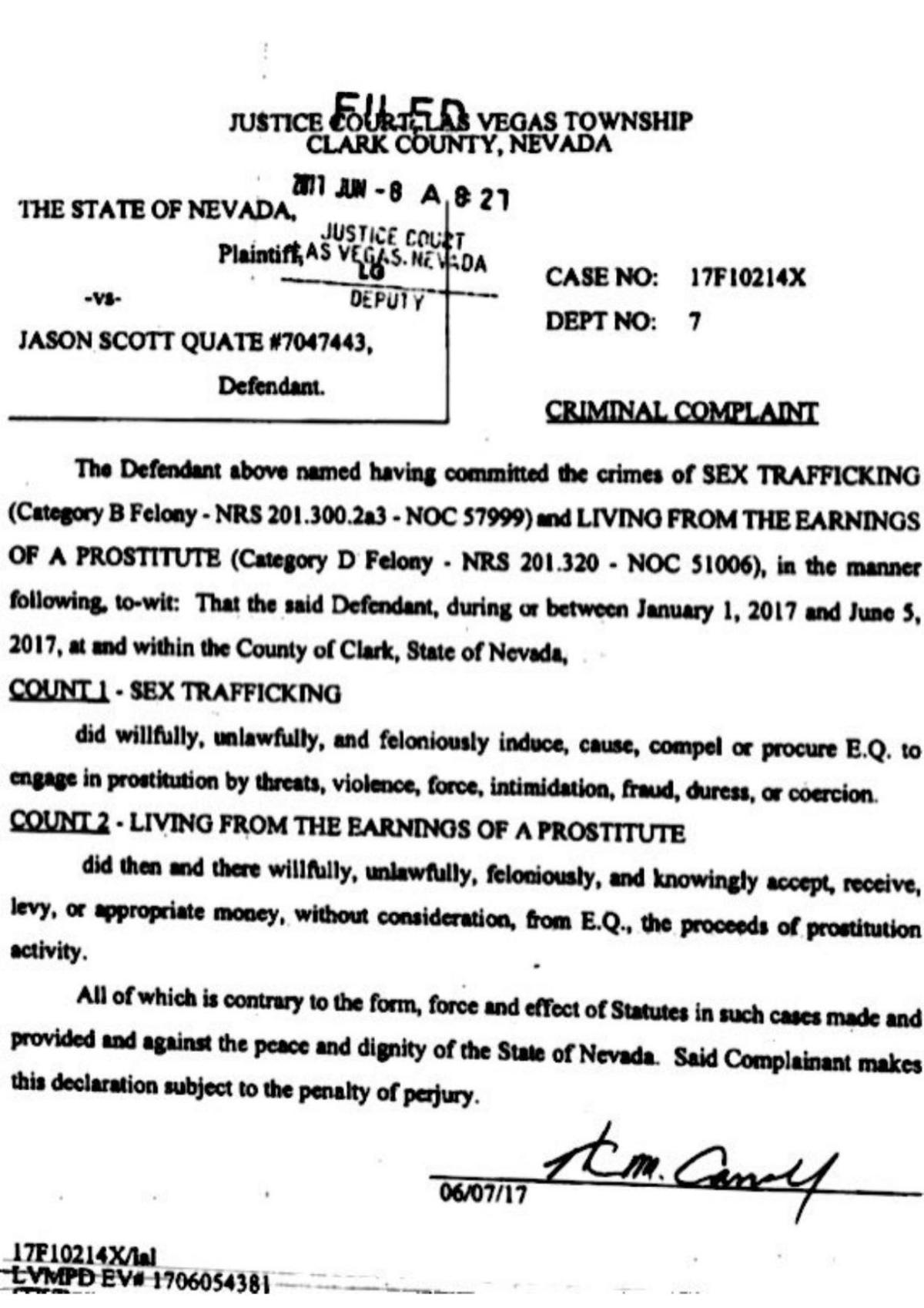 Criminal complaint against Jason Quate | Law and order | stltoday com
