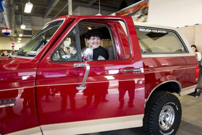 Boy receives father's truck