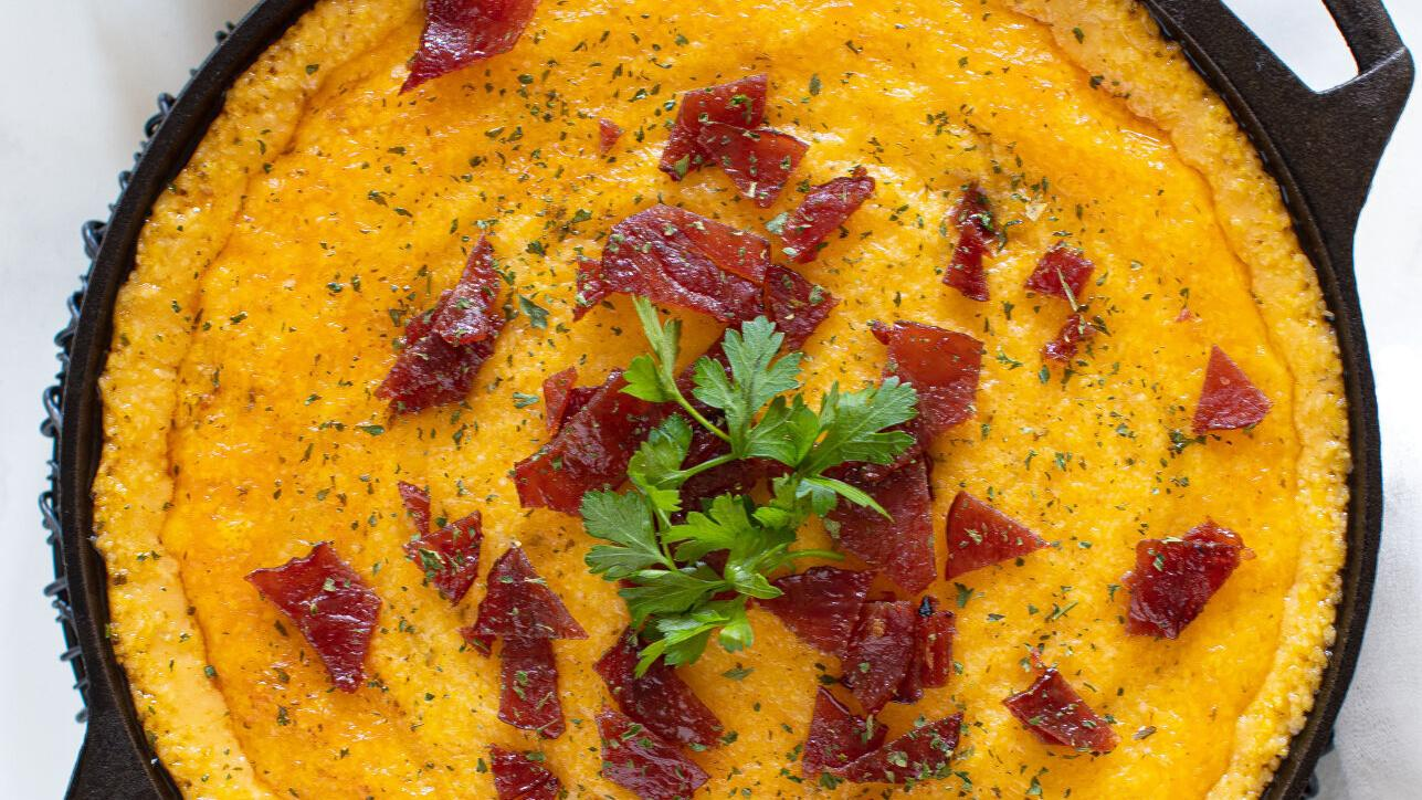 This Southern grits casserole is packed with bacon and cheese