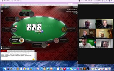 Screen shot of recent (non-league play) action for the Anonymous Poker Club