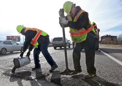 Potholes popping up all over
