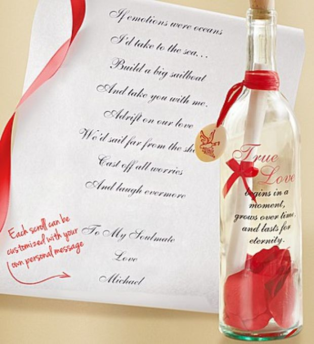 valentine message in a bottle — crafthubs, Ideas
