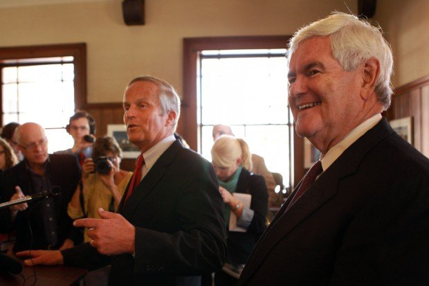 Newt Gingrich for Todd Akin in Kirkwood