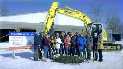 Bank of Hillsboro Holds Groundbreaking Ceremony to for New Staunton Branch.