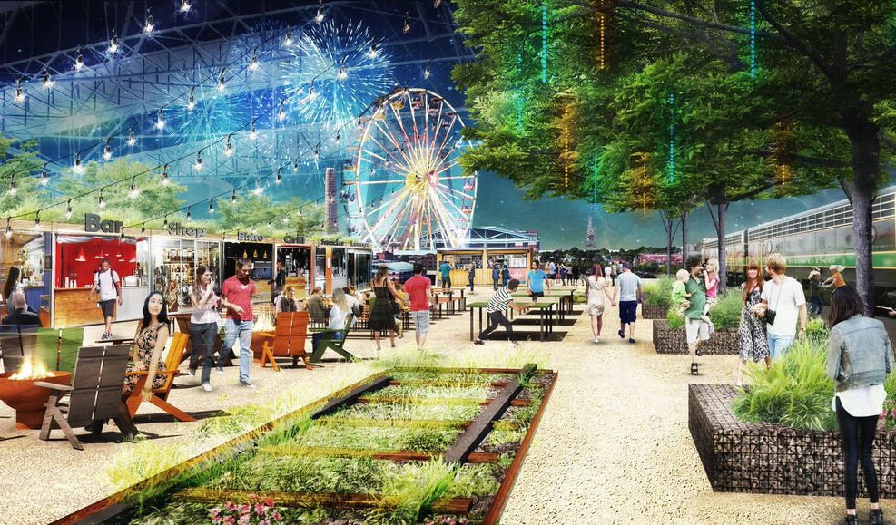Rendering of planned Union Station plaza