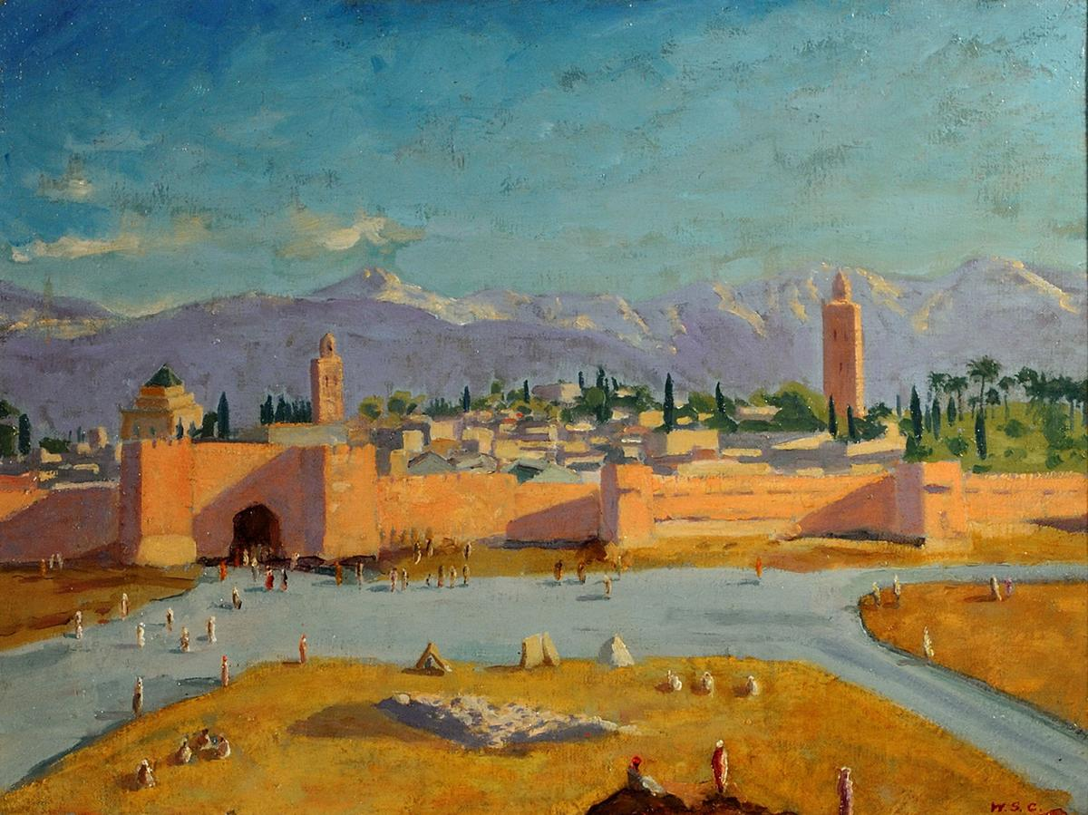 Image result for churchill painting tower mosque