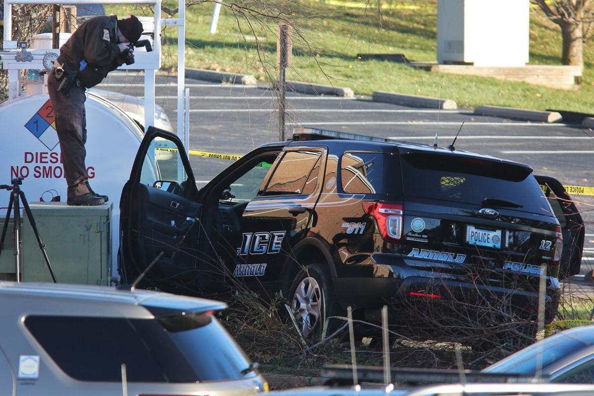 Arnold Police Officer Shot in His Patrol Car
