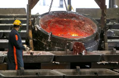 Aluminum smelting in New Madrid, Missouri