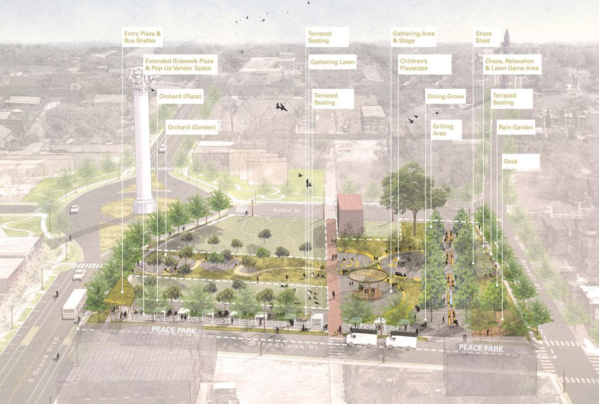 Peace Park improvements rendering