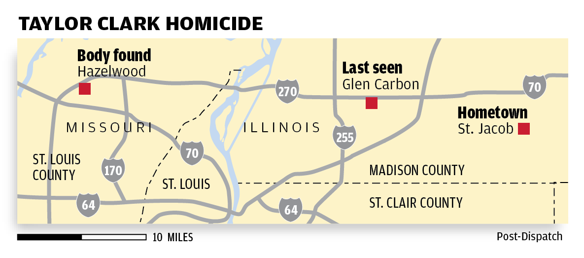 Taylor Clark Homicide map