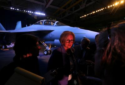 100th EA-18G Growler delivery ceremony and employee rally