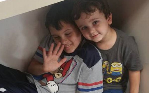Boys injured in crash near Lambert