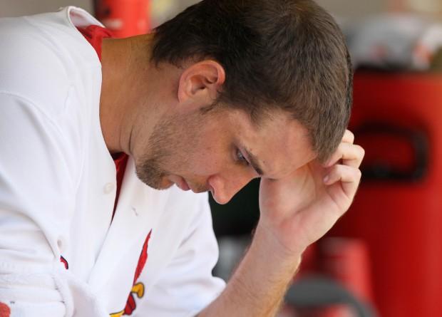 Wainwright in dugout