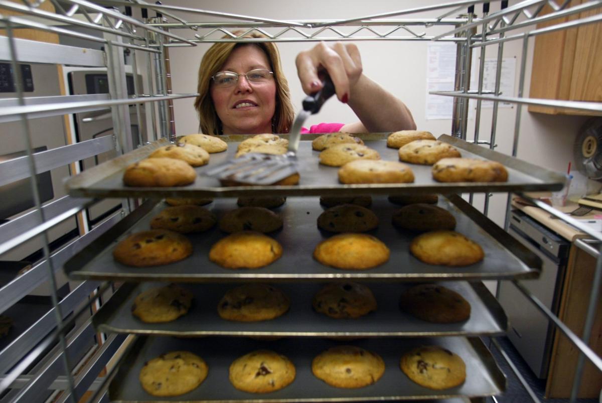 Susie Wilson makes cookies