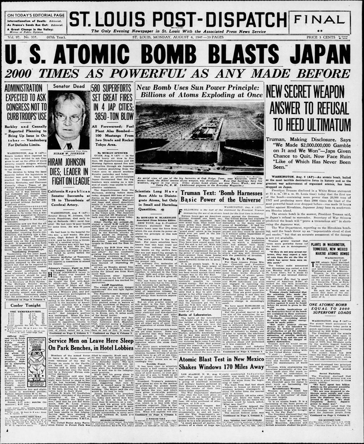 """Mallinckrodt Chemical Works began producing """"a pure uranium oxide"""" in 1942 for the Manhattan Project, which developed the bombs dropped on Hiroshima and Nagasaki in 1945. Work on uranium purification continued for decades."""