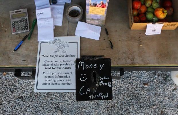 Money can at Todd Geisert Farms