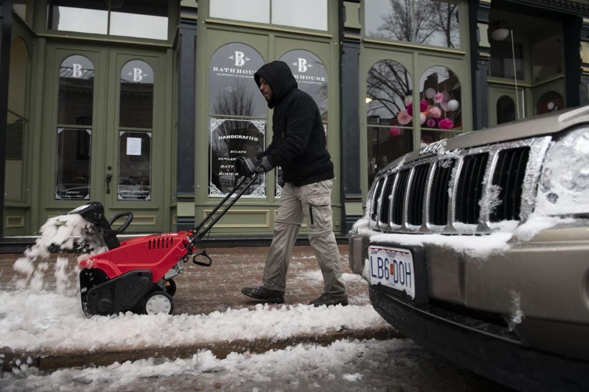 A wintry mix falls in St. Charles