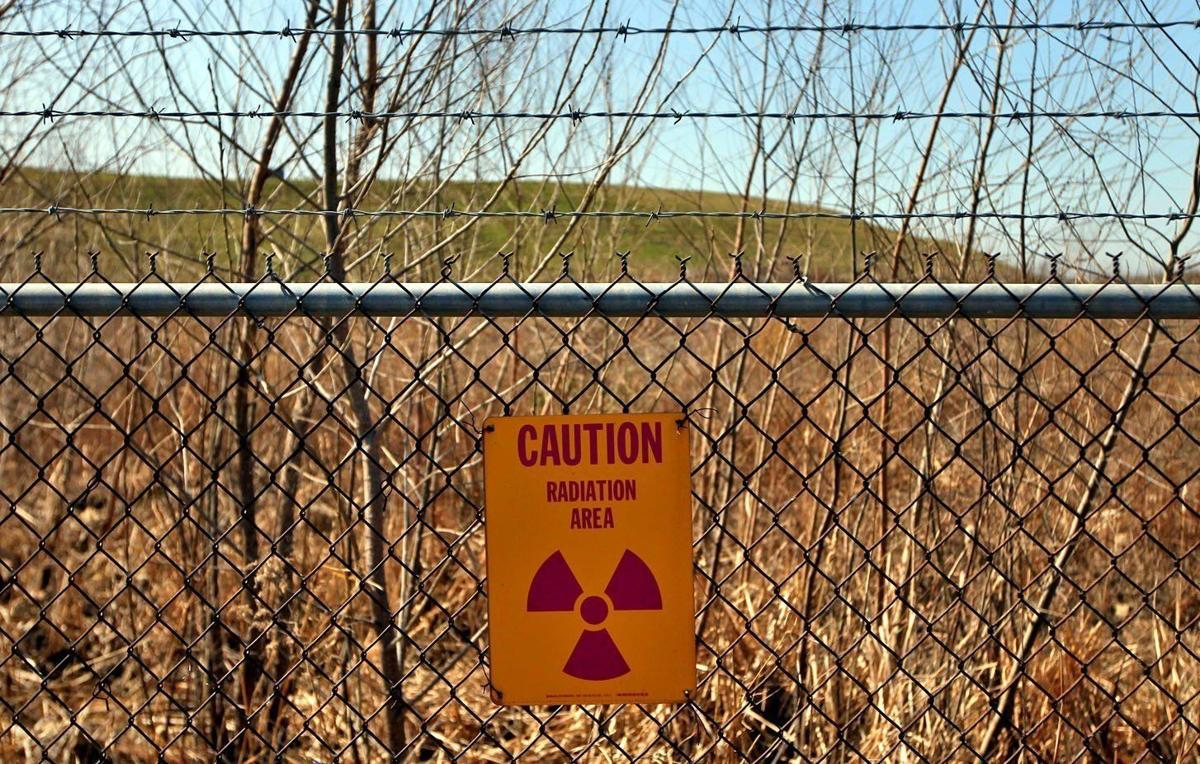 Radioactive sign at West Lake landfill in Bridegton- tight