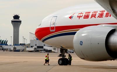 First China Cargo plane lands at Lambert