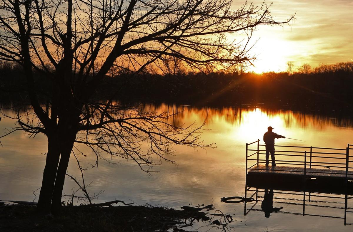 Sundown at Simpson Lake in Valley Park