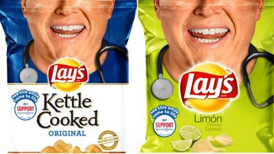 Dr. Chris Erkmann on Lay's potato chips bag