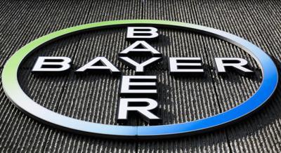 BAYER AG CORPORATE LOGO SIGN