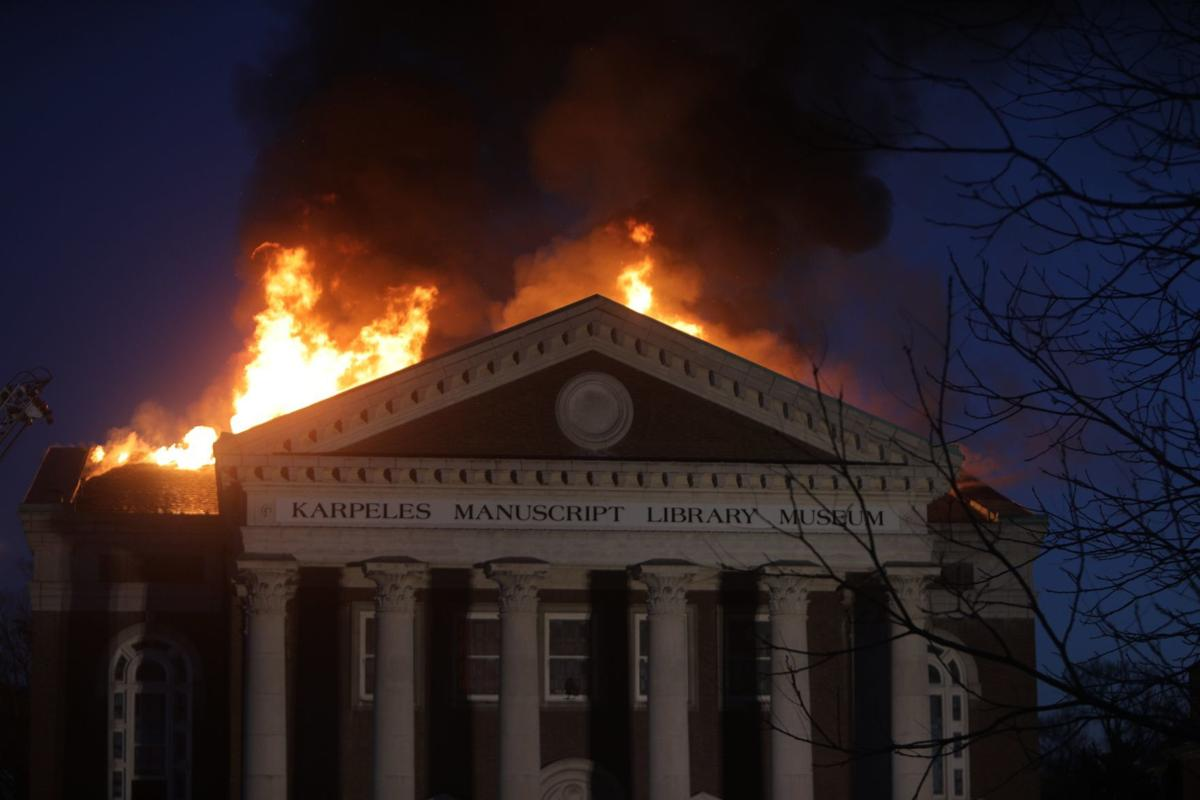 massive fire at st louis museum that holds historic manuscripts metro. Black Bedroom Furniture Sets. Home Design Ideas
