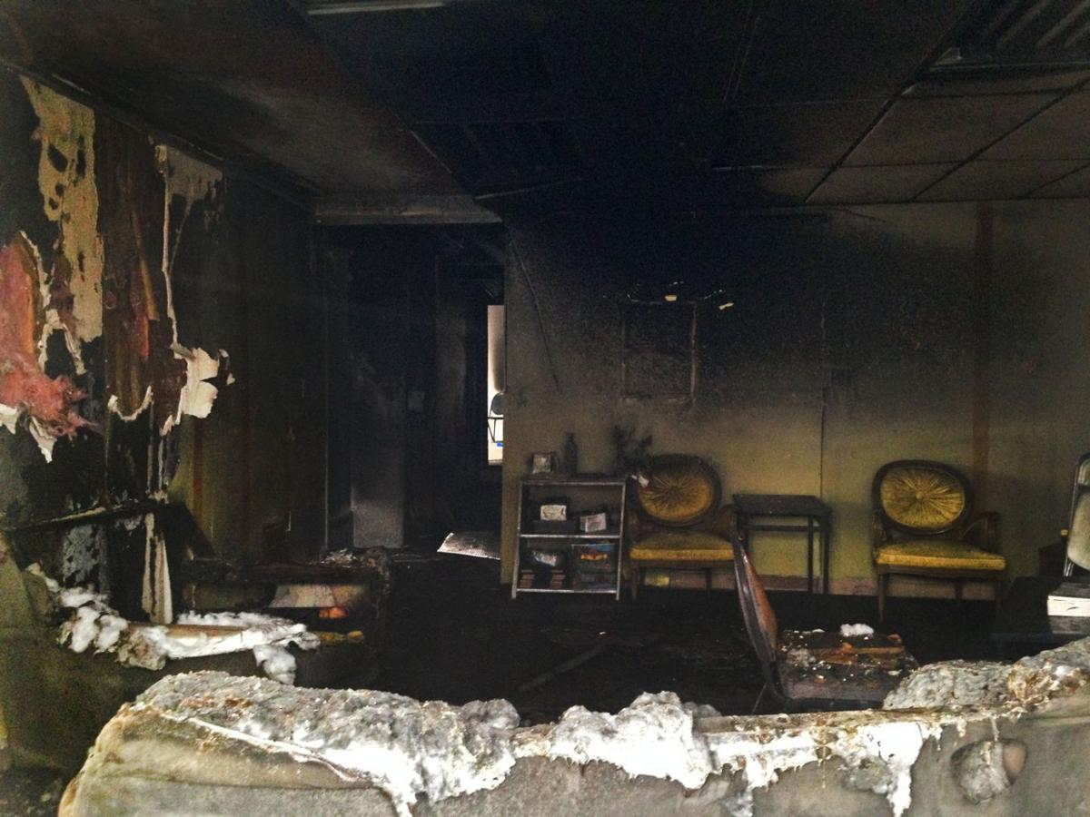 The burned remains of Michael Brown Sr.'s church