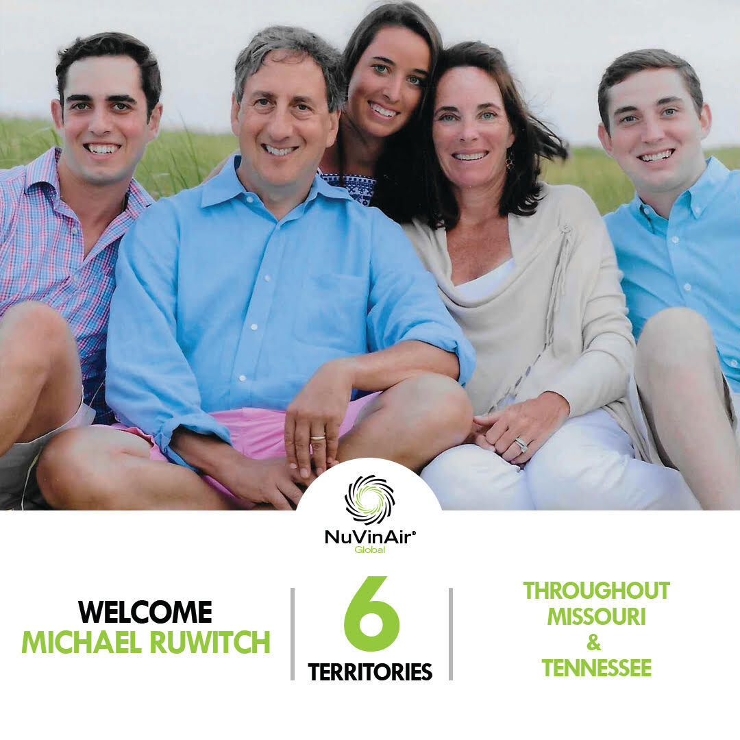 Michael Ruwitch and his family now own the exclusive rights to St. Louis for NuVinAir Global.