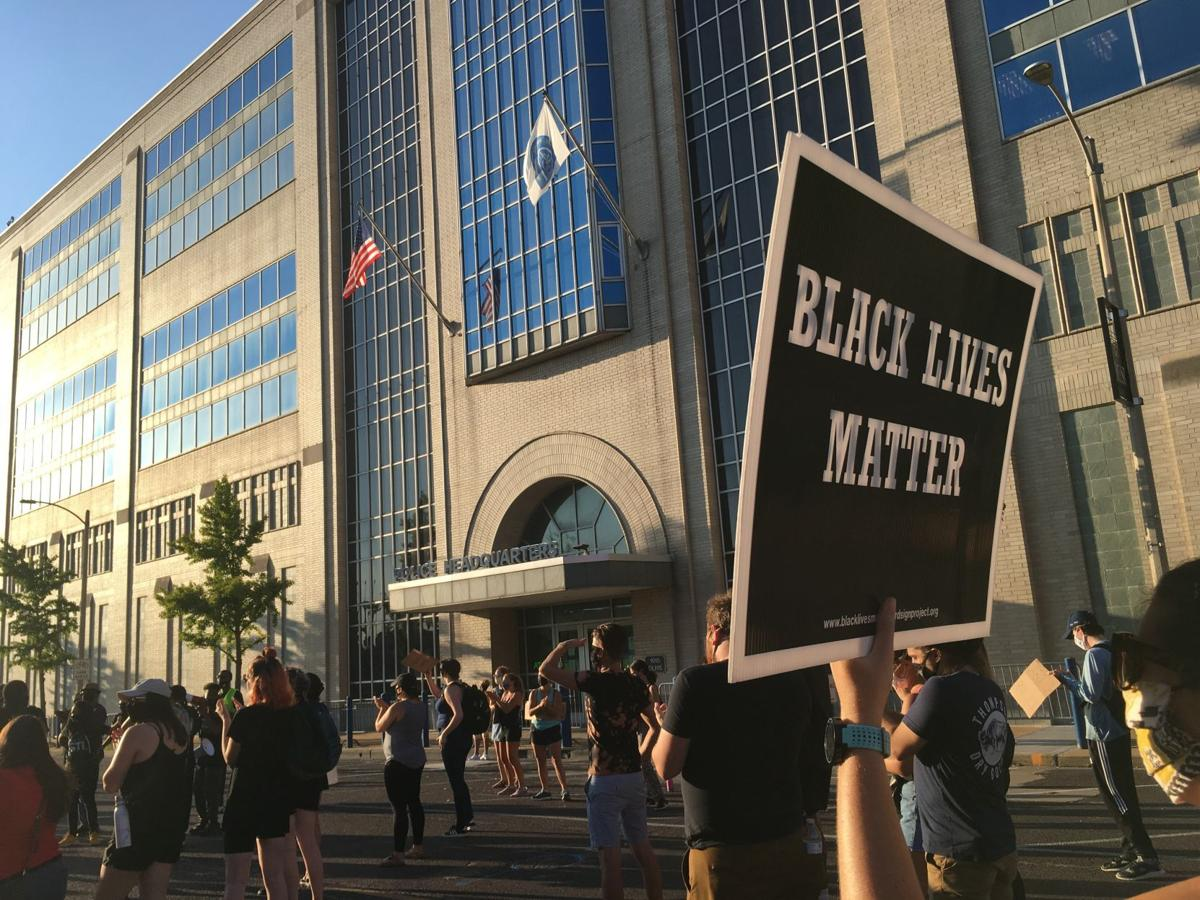 Protesters gather outside St. Louis police headquarters