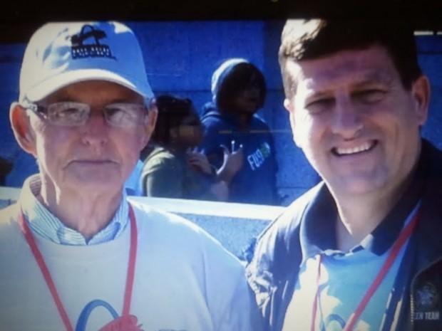 Raymond Newsham (left) and his son, John Newsham
