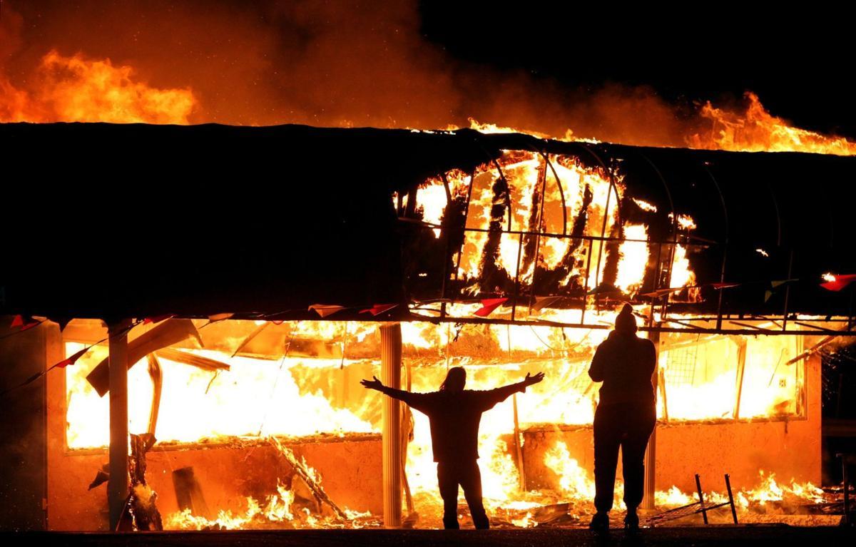 Businesses burn on West Florissant