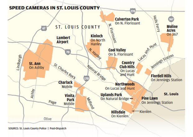Speeding cameras in St. Louis County