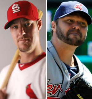 Cardinals Ryan Ludwick and Cleveland Indians Jake Westbrook