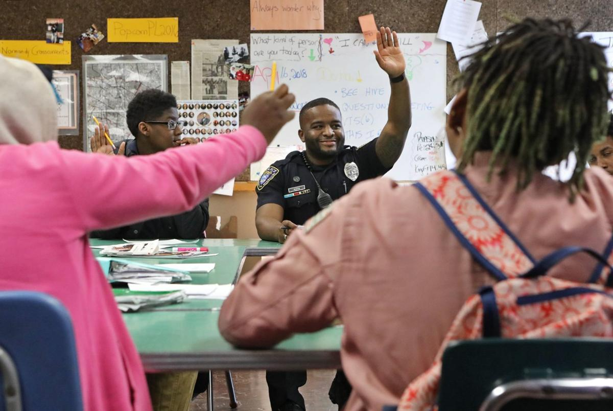 Normandy school resource officer back to his roots
