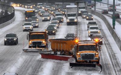 Plows clear Highway 40