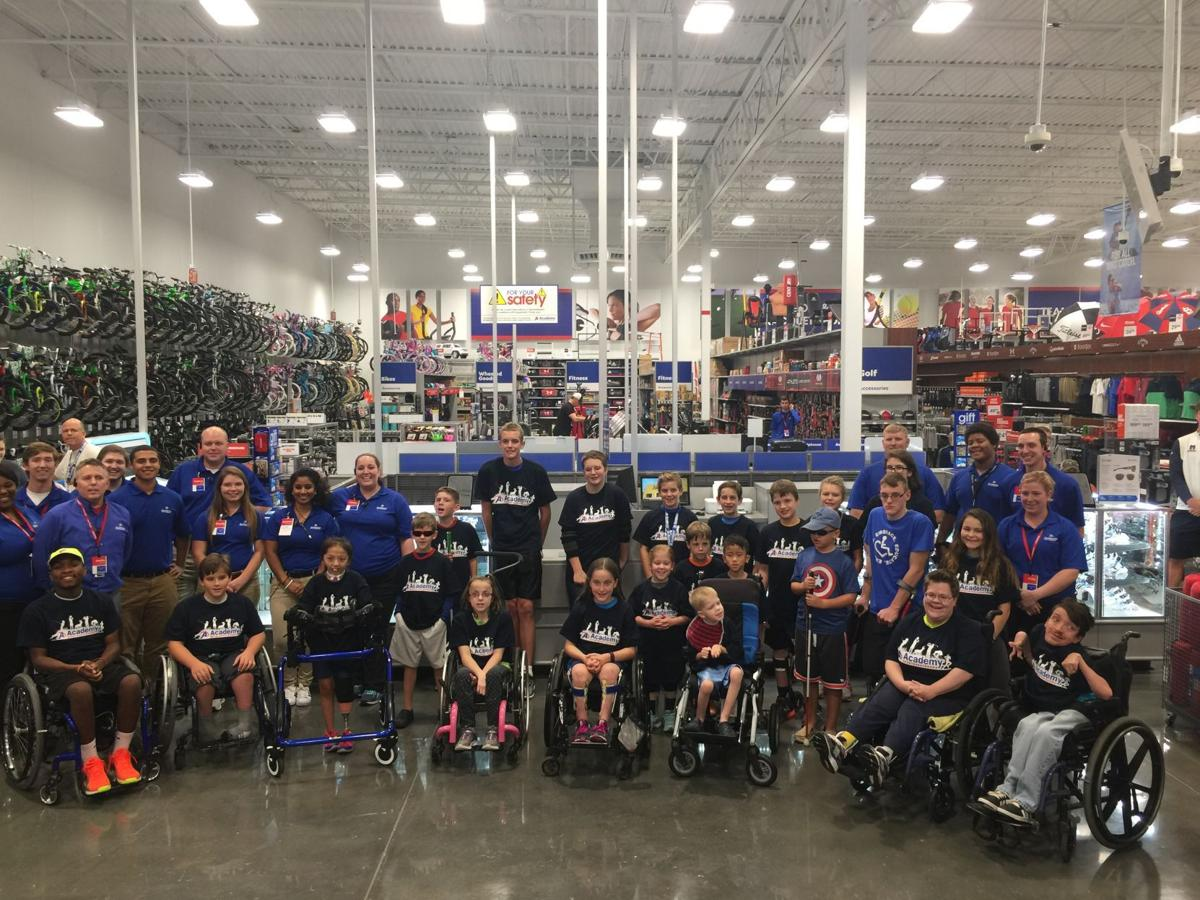 academy sports outdoors st business peters gift cards opened stltoday disabled athlete association donated oct chain local