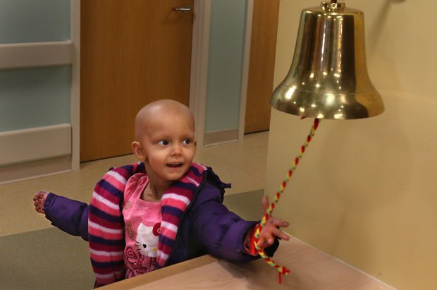 Ringing The Bell To Signal End Of Cancer Treatment At St